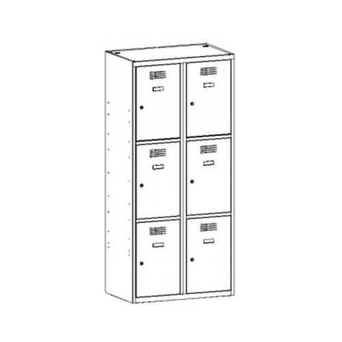 Kovová šatňová skrinka SUS-423 W 1